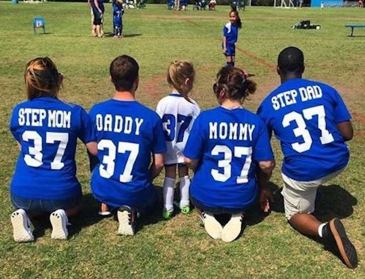 Soccer Game Photo Shows Co-Parenting At Its Finest